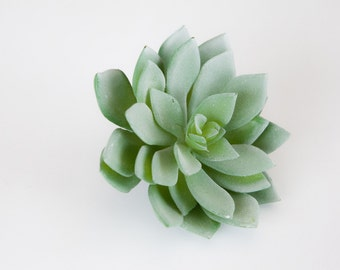 Faux Succulent: Large Artificial Echeveria Succulent in Frosted Green - Fake Succulent - artificial succulents - ITEM 0417