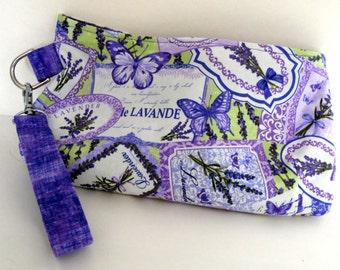 Lavender Label Wristlet, Lavender Clutch Wristlet, Pretty Butterfly Lavender Clutch Wristlet, Coraline Clutch Wristlet, Swoon Pattern