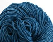 Hand Dyed Aran weight mini Empire Rambouillet Wool 213 yds 4oz Vintage Denim