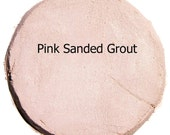 Mosaic Grout TRUE PINK 2 Pounds Sanded Polymer Fortified Custom Blend Color for Craft Tiles and Home Projects Just Add Water