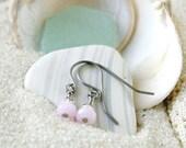 Little Girl Jewelry - Flower Girl Earrings - Hypoallergenic Earrings - Titanium Earrings - Little Girl Earrings - Pink Wedding Party Earring