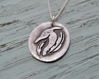 Greyhound Feather Necklace - Greyhound Jewelry - Pet Memorial - Greyhound Necklace - Spirituality - Remembrance