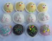 Easter Cake Balls. Easter bunnies and chicks.  Bitty Bites. Easter Basket. Easter Sunday. Hostess gift. Grandchildren gift.  Easter rabbit