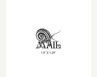 Clearance Snail Mail Rubber Stamp 390