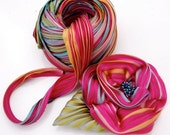 Silk Shibori Ribbon Flower New double flower kit