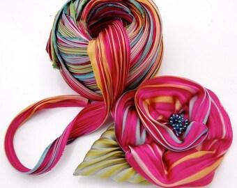 Silk Shibori Ribbon Flower New double flower kit