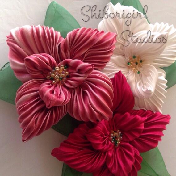 Необычные цветы из ткани мастер класс с пошаговым