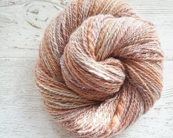Handspun Yarn, Hand Spun Yarn, BFL, Silk, DK