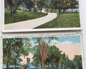 Vintage Postcards of Brooklyn NY Parks cira 1915