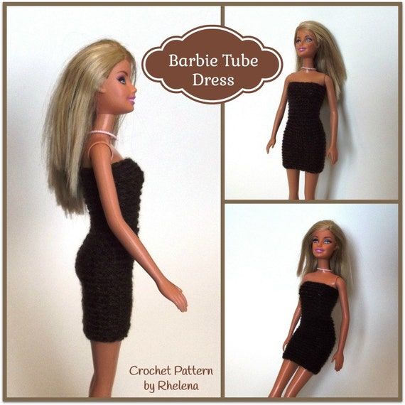 Barbie Tube Dress Crochet Pattern - photo#42