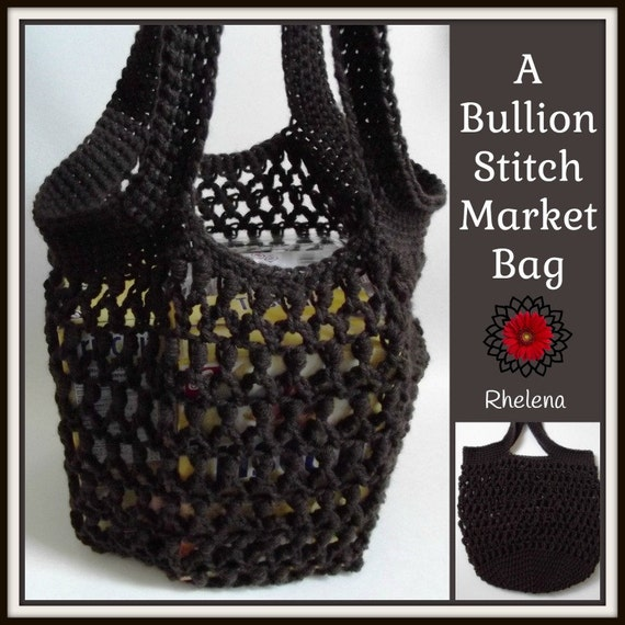 A Bullion Stitch Market Bag Crochet Pattern