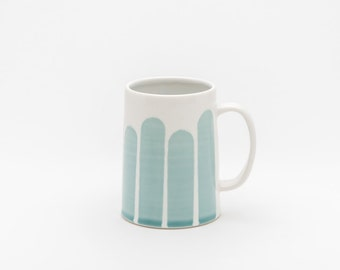 Striped Mug in Turquoise