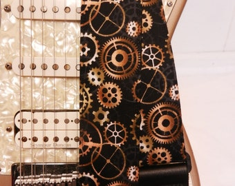 Steampunk gears the Doctor inspired guitar strap