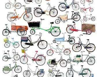 32 Dutch Bikes, Amsterdam, Netherlands, Fietsen, bicycle, print