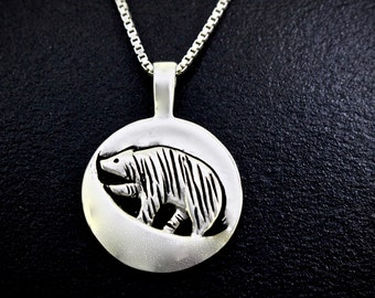 Bear Foraging Moon (October), Necklace