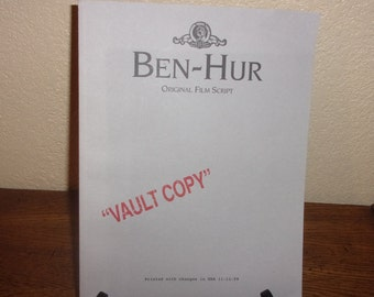 1959 BEN-HUR Original Film Script-Vault Copy