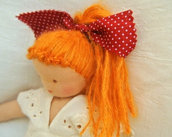 Waldorf doll 11inch made of ecological and natural materials for all ages Steiner education