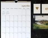 simple gold wall calendar - start any month