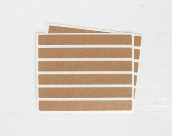 kraft sticker strips