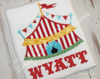 Circus Birthday shirt, Circus Tent Shirt, Circus shirt, Carnival Birthday shirt, Boy Birthday Shirt,Girl Birthday shirt, sew cute creations
