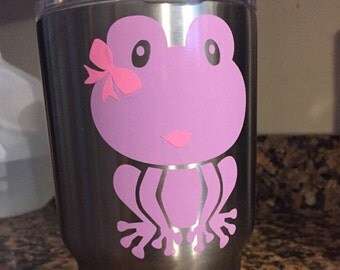 Purple and Pink Frog Decal Vinyl Decal for Yeti Cups, Car, iPads, Computer or Whatever other Surface you can Find!!
