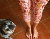 CAKESPY Capri Leggings: Many Small Cakes