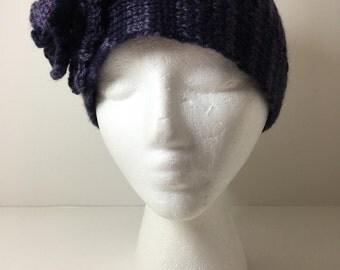 Adjustable Earwarmer Headband Handknitted Wool
