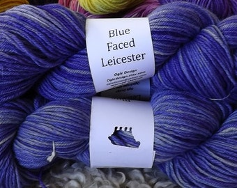 Blue faced Leicester Wool- periwinkle 411