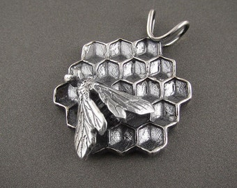 The Bee's Knees Handmade Sterling Silver Pendant