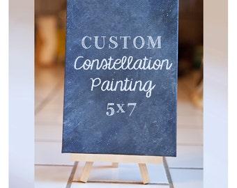 Custom Constellation Painting 5x7