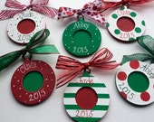 Holiday Christmas Custom Painted Photo Personalized  Ornament