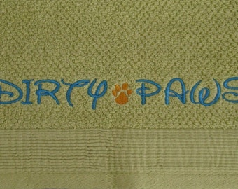 Dirty Paws - Towel for your Furry Friends - ONE Hand Towel- Ready to Ship