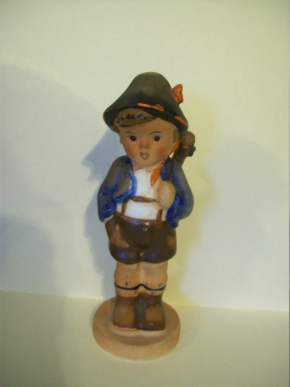 Hummel made in Japan between the late 1940's and the 1950's, Boy Hummel, Vintage, Gift, collectible, boy figurine, figurine with instrument