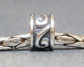 Sterling Silver Slider No. 22, Spacer Big Hole Bead fits European Charm Bracelets