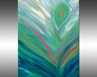 Abstract Feathers 1 - Original Modern Painting, Art Painting, Original Abstract Painting, Modern Art, Canvas Wall Art, Contemporary