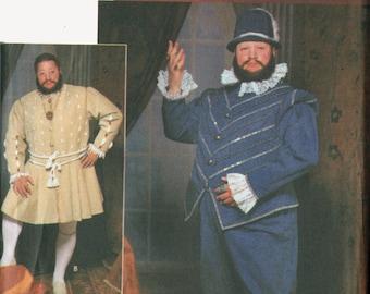 King Henry VIII Renaissance Costume Pattern Tudor Lord Cosplay Simplicity 9633 Mens Sewing Pattern Size XL - XXL Uncut