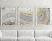 Set of - 3 Agate Prints -   Prices are listed under options