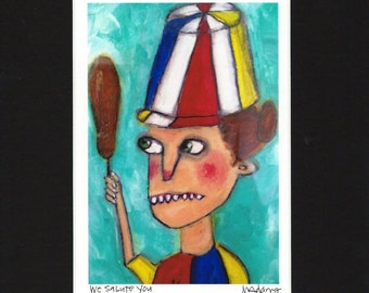 We Salute You - Art Print, Hot Dog on a Stick fan art, giclee by Murphy Adams