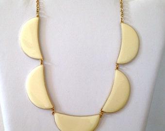 Post Modern  Necklace Vintage 80s Enamel on Brass Jewelry Geometric