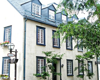 Quebec City Photos Travel Photography Vieux Old Quebec City Canada art Blue White Home Decor Architecture Photo Prints Window Photography