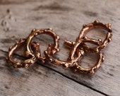 Artisan Dotted Open Jump Rings in Copper Bronze, AJ-9