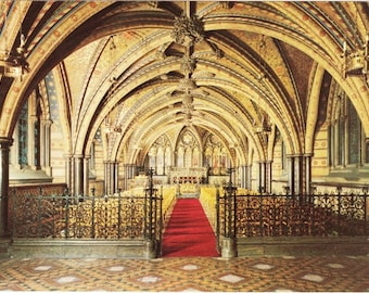 Vintage postcard, Palace of Westminster, London, England, UK, 1979