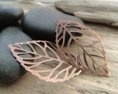 Antiqued Copper Leaf Filigree, Copper Filigree Pendants,Filigree Metal Supply 5