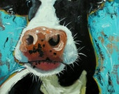 Cow painting 1060 18x24 inch animal original oil painting by Roz