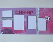 Cheer Premade or DIY Kit,12x12 Scrapbook Layout, Scrapbook Page Kit, Project Life, Filofax