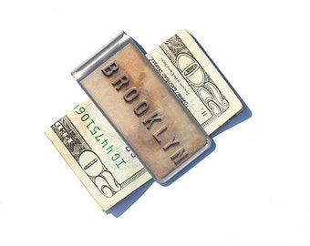 MONEY CLIP- Money Clip -  Brooklyn Money Clip - Cool Gifts for Guys- Cool Dad Gifts- Money Clip Wallet-Brooklyn Bridge- New York - NYC