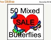 NEW YEAR SALE Bulk Special-50 Mixed Butterflies