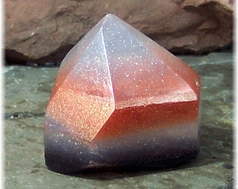 Crystal Point Soap Rock, Copper and Crystal  Soap Rock, Glycerin Soap, Sparkling Raw Crystal Soap Rock, Unscented