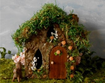 Fairy House, Fairy Garden,FREE SHIPPING Miniature Fairy House,Garden Decor, Outdoor Fairy House, Stone Cottage, Miniature Garden