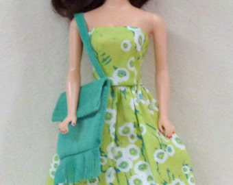 "11.5"" fashion dolls Handmade dress with purse"